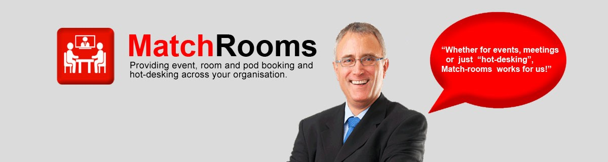 Match Rooms providing event, room and pod booking and hot-desking across your organisation
