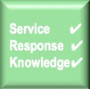great service, response, knowledge